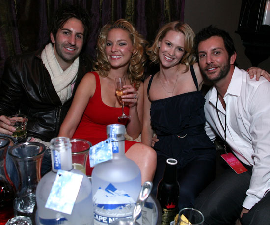 "Josh Kelley and Katherine Heigl joined January Jones and Tommy Alastra for Victoria's Secret's ""What Is Sexy?"" party following the 2008 Super Bowl."