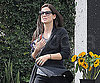 Slide Photo of Sandra Bullock at Flower Stand in LA