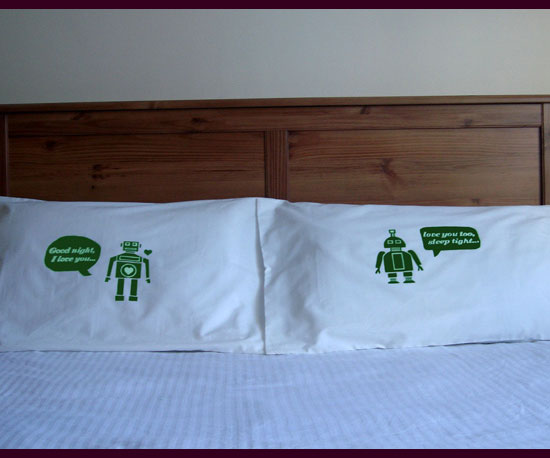 Robot Pillow Cases ($40)