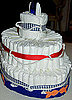 How to Make a Sailor Themed Diaper Cake