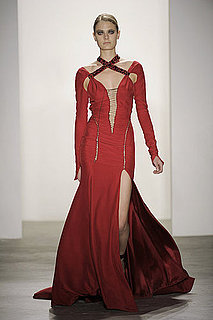 Altuzarra Fall 2010 Wows Well-Heeled Crowd with Sutured Suiting and Blood-Red Gowns
