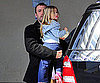 Photo Slide of Ben And Violet Affleck After Her School in LA