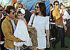 Photos of Katie Holmes, Tom Cruise and Suri Cruise in Miami at the 2010 Super Bowl