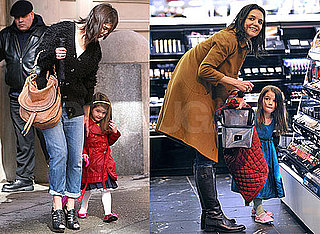 Photos of Katie Holmes and Suri Cruise Shopping at Sephora and Leaving Their Hotel in NYC 2010-02-11 10:30:48