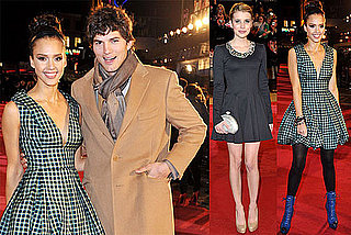 Photos of Ashton Kutcher, Demi Moore, Emma Roberts, and Jessica Alba at the London Premiere of Valentine's Day 2010-02-11 15:30:31