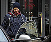 Slide Photo of David Beckham Leaving Hotel in Milan