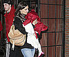 Slide Photo of Katie Holmes and Suri Cruise Leaving Hotel in NYC
