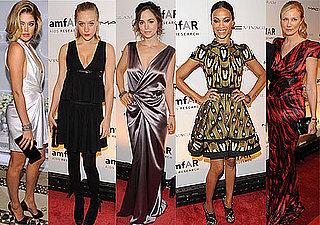 Photos of Celebs from New York Fashion Week amFAR Benefit Gala with Mary-Kate Olsen, Zoe Saldana, Meryl Streep, Chloe Sevigny,
