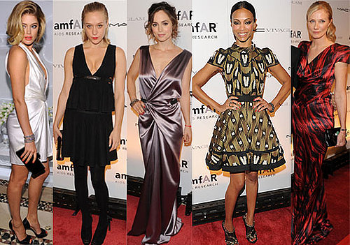 Photos of Celebs from New York Fashion Week amFAR Benefit Gala with Mary-Kate Olsen, Zoe Saldana, Meryl Streep, Chloe Sevigny 2010-02-11 14:30:50