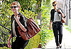 Photos of Carey Mulligan Wearing a Brown Leather Tote Running Errands in LA