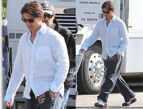 Photos of Tom Cruise on the LA Set of Knight and Day