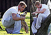 Photos of Kellan Lutz at the Park in LA with His Dogs Kola and Kevin