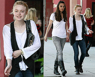 Photos of Dakota Fanning Shopping With Her Mother in LA on Valentine's Day