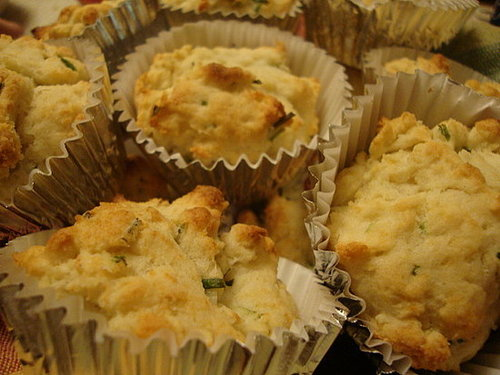 Chive-Flecked Spud Muffins