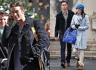 Photos of Chace Crawford And Leighton Meester Filming Gossip Girl in NYC