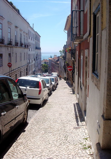 Narrow, Winding Streets of Lisbon
