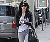 Slide Photo of Ashlee Simpson Walking to Ken Paves Salon in LA With Black Hair