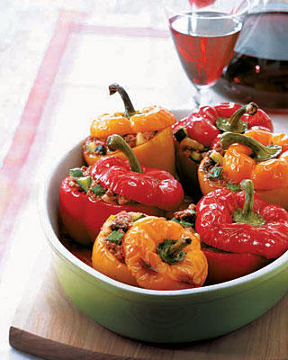 Fast and Easy Picadillo-Stuffed Peppers Recipe