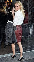 Тренды весна 2010: Модная кожаная юбка.