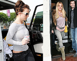 Photos of Britney Spears Shopping in LA and Dying Her Hair Blond