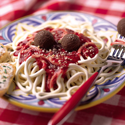 Fake spaghetti and Meatballs