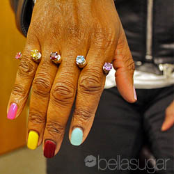 Guess Which Celeb Wore Multi-Coloured Nails and Matching Jewellery?