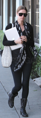 Nicky Hilton Wears Alexander McQueen Scarf to Apple Store