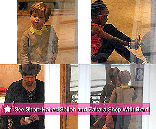 Photos of Short-Haired Shiloh and Zahara Shopping With Brad