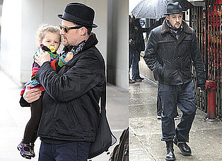 Photos of Joel Madden and Harlow Madden Wearing a Rainbow Sweater Arriving at LAX