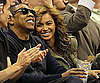 Slide Photo of Beyonce and Jay-Z at Mavericks Game in Dallas