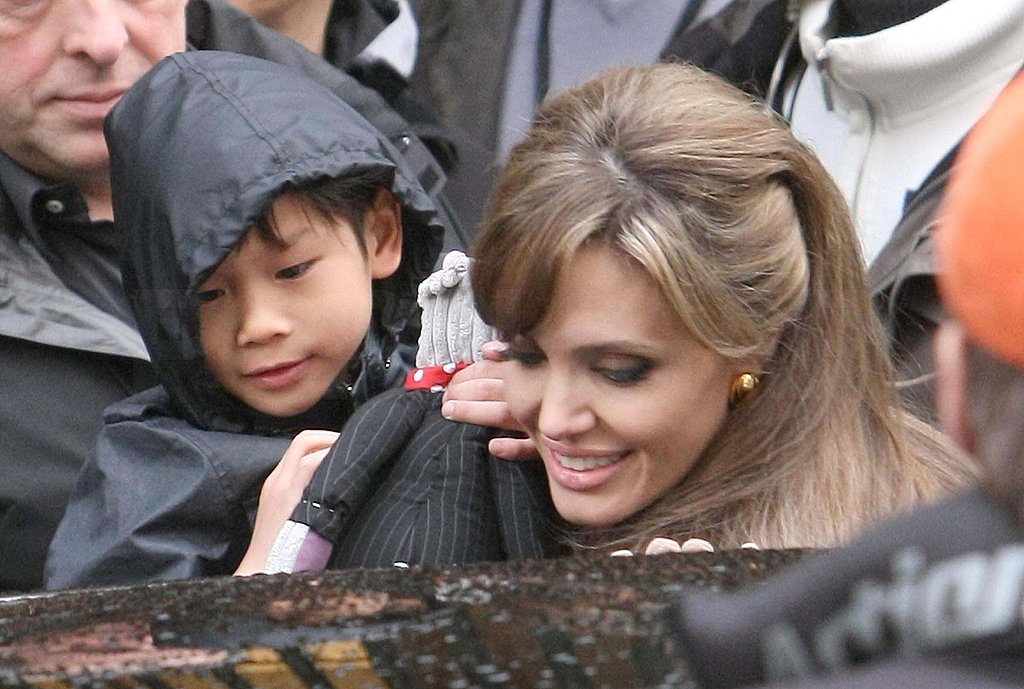 Photos of Angelina Jolie on Tourist Set