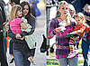 Photos of Courteney Cox and Busy Philipps With Their Daughters on Cougar Town Set