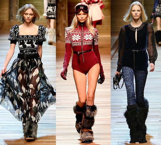 Photos of D&G's Fall 2010 Collection