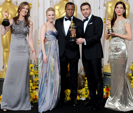 Photos of Sandra Bullock, Kathryn Bigelow, and More in the 2010 Oscars Press Room