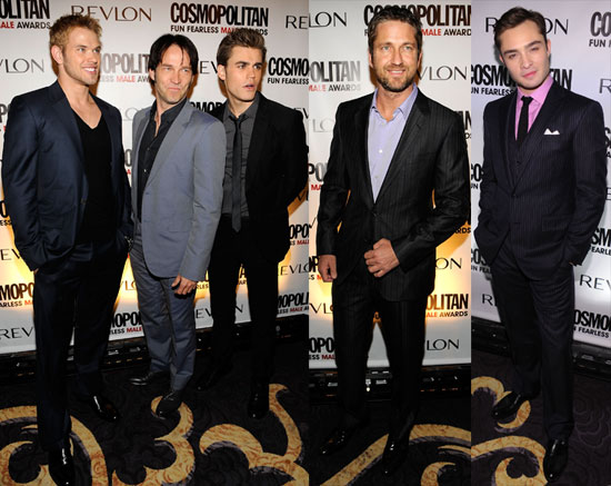 Photos of Kellan Lutz, Paul Wesley, Ed Westwick, Gerard Butler and Stephen Moyer at Cosmopolitan Party 2010-03-02 07:00:00