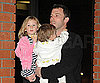 Slide Photo of Ben Affleck with Violet and Seraphina