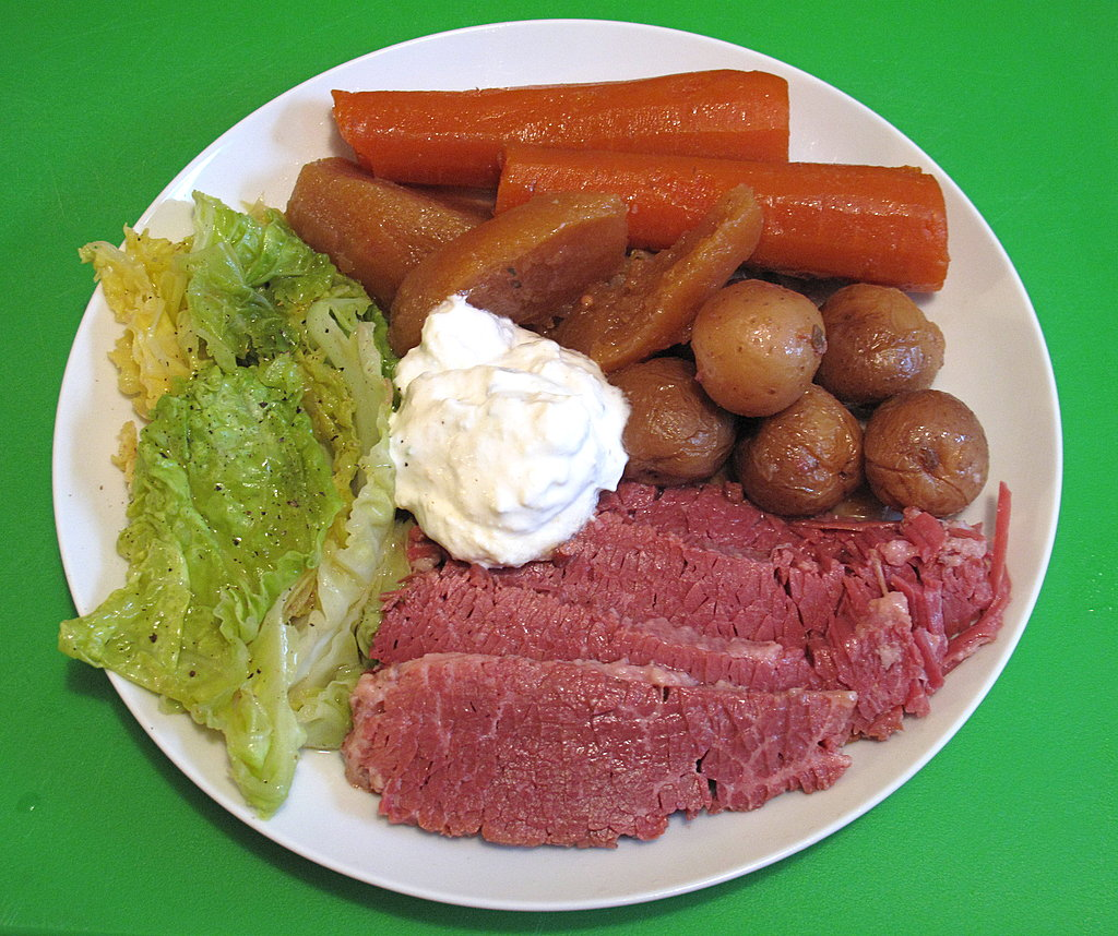 Photo Gallery: Slow-Cooker Corned Beef and Cabbage With Horseradish Cream