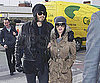 Slide Photo of Katy Perry and Russell Brand at Heathrow