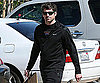 Slide Photo of Patrick Dempsey Wearing All Black and Smiling Running Errands in LA