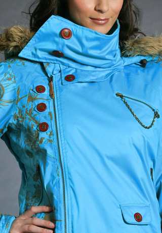 Gretchen Bleiler Mane Jacket, blue ($280)
