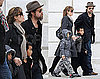 Photos of Angelina Jolie, Brad Pitt, Maddox Jolie-Pitt, and Pax Jolie-Pitt Together in Venice
