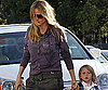 Slide Photo of Heidi Klum and Leni in LA