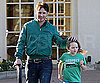 Slide Photo of Peter Facinelli Picking His Daughter Up From Tennis Practice in LA