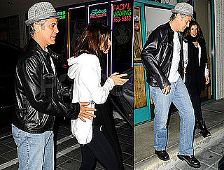 Photos of George Clooney, Elisabetta Canalis, Emily Blunt, and John Krasinski Getting Dinner Together