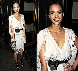 Jessica Alba Attends the 7th Annual Global Green USA Pre-Oscar Party in LA in Viktor & Rolf