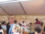 There was a huge line of people hoping to get a book signed by Emeril.