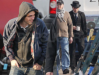 Photos of Robert Pattinson in Costume Filming Bel Ami and Drinking Tea in London