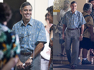 Photos of George Clooney Wearing a Hawaiian Shirt Filming The Descendants in Hawaii