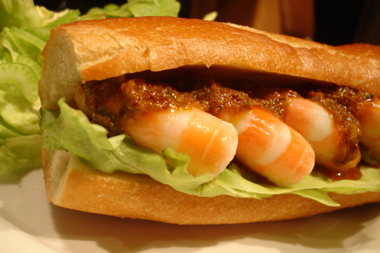 Shrimp Rémoulade Po' Boy