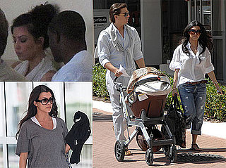 Photos of Kim Kardashian and Reggie Bush Leaving Costa Rica as Kourtney and Scott Disick Film in Miami